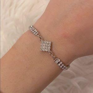 🦋rhinestone bedazzled charming charlies bracelet